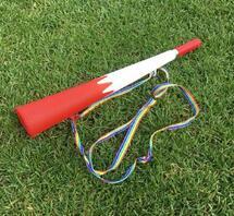 Red + White Mega Horn