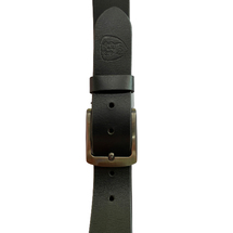 Boxed Black Leather Belt
