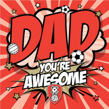 Awesome Dad Comic Card